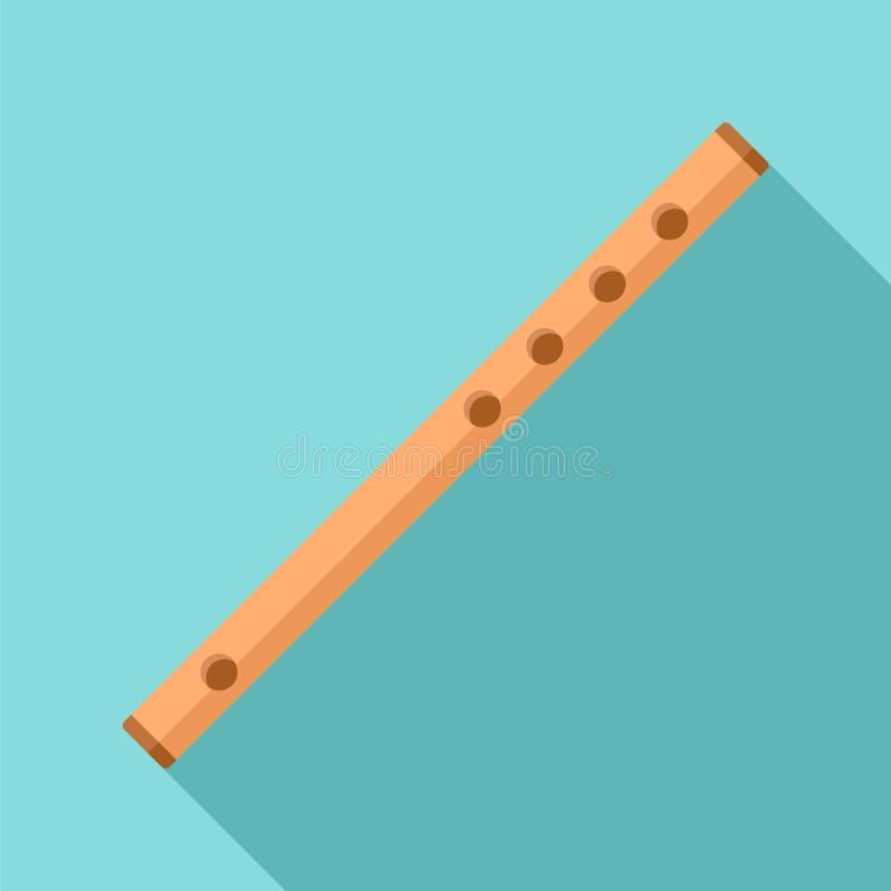 Hölzerne Flötenikone, flache Art lizenzfreie abbildung