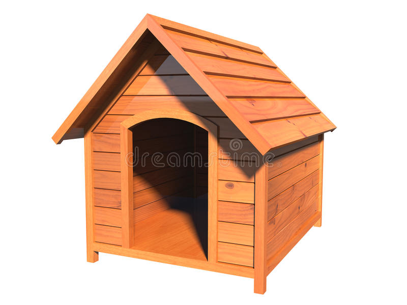 Hölzerne Hundehütte stock abbildung
