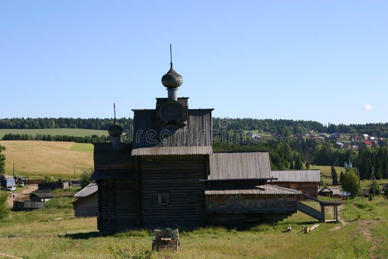 Hölzerne Kathedrale stockfoto