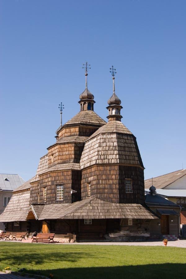 Hölzerne Kirche in Chortkiv, Ukraine lizenzfreie stockfotografie
