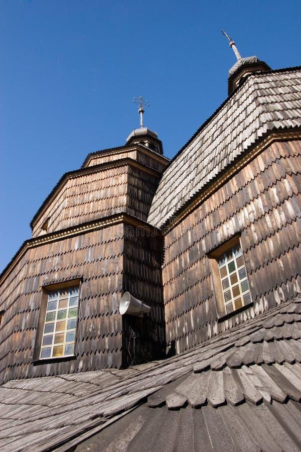 Hölzerne Kirche in Chortkiv, Ukraine stockbild