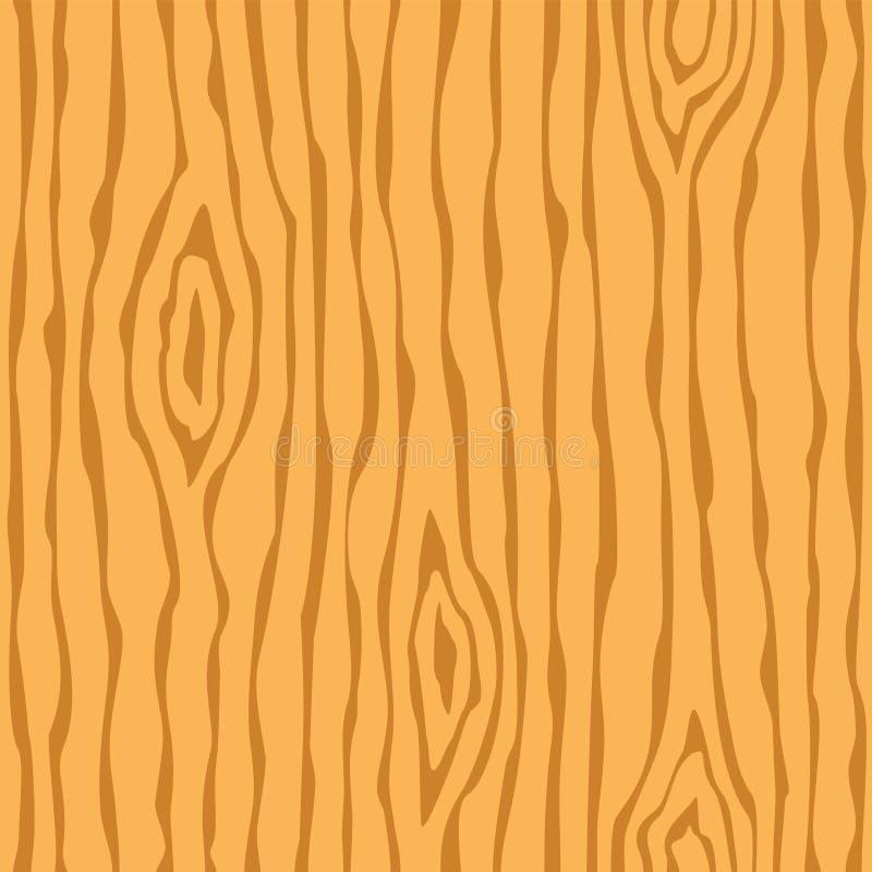 Hölzerne Kornbeschaffenheit Nahtloses braunes hölzernes Muster entziehen Sie Hintergrund vektor abbildung