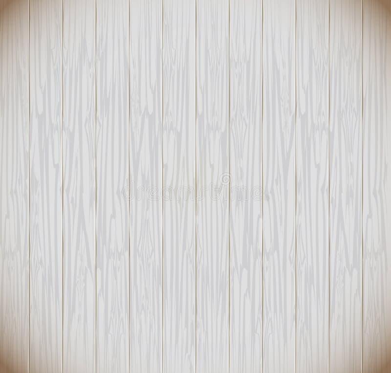 hölzerne Latten weißer Polywood-Art lizenzfreie abbildung