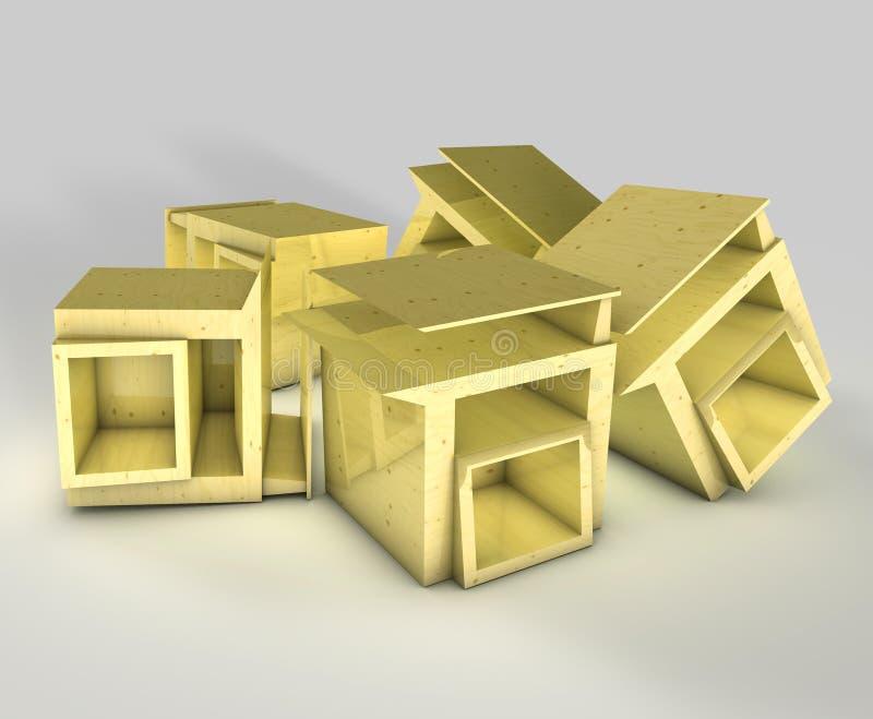 Hölzerne Möbel stockfoto