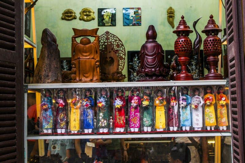 Hölzerne Marionetten, Hanoi, Vietnam stockfoto