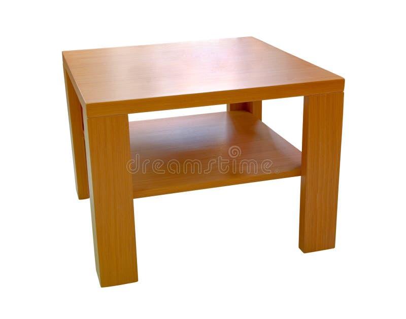 Hölzerne moderne Tabelle stockbilder