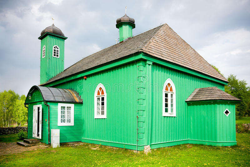Hölzerne Moschee in Kruszyniany lizenzfreie stockfotografie