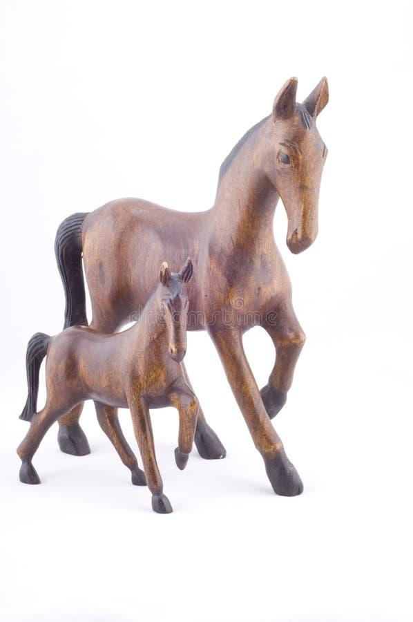 Hölzerne Pferde zusammen stockbild