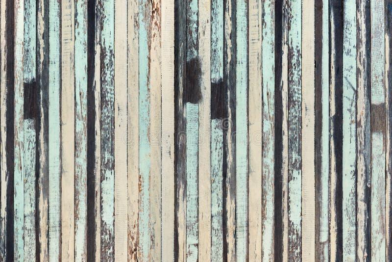 Hölzerne Planke braunes und grünes Beschaffenheitshintergrundweinlese-Holz backg stockfoto
