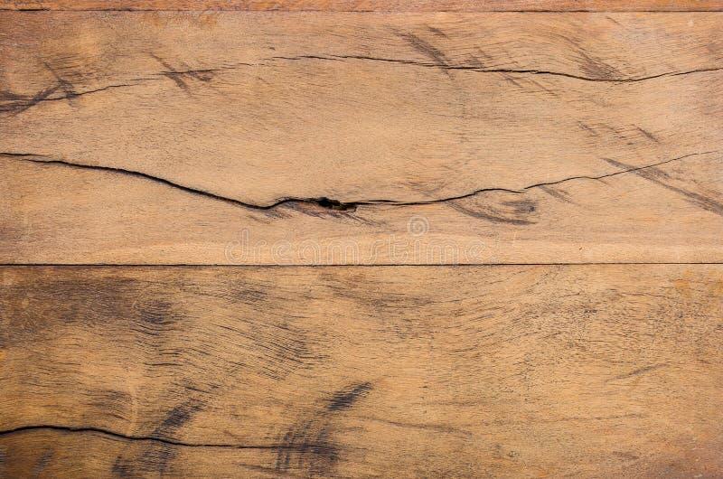 Hölzerne Planke Browns mit gnarl lizenzfreies stockfoto