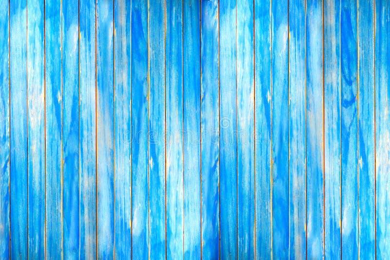 Hölzerne Planke und blaue hölzerne Wand lizenzfreies stockfoto