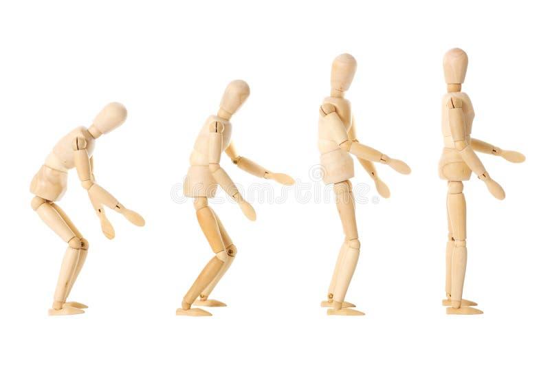 Hölzerne Puppen mit verschiedenen Lagen stockbild