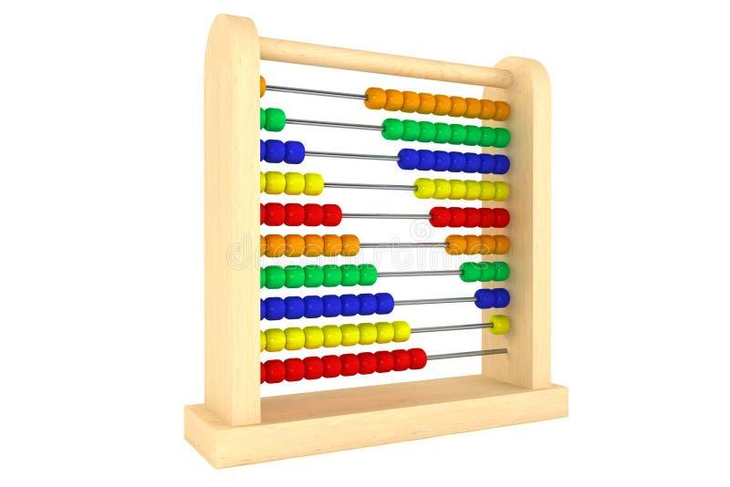 Hölzerne Rechenmaschine des Spielzeugs vektor abbildung