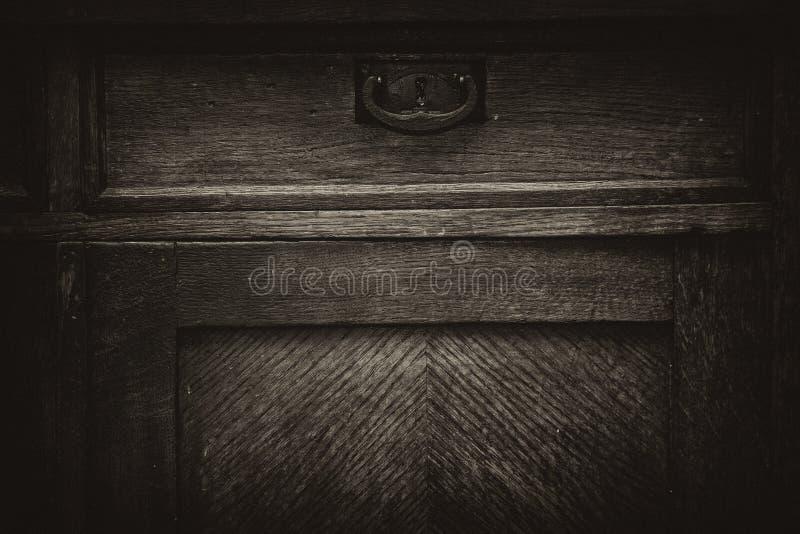 Hölzerne Retro- Möbel der Weinlese lizenzfreie stockbilder