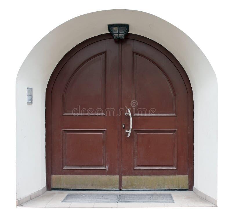 Download Hölzerne Retro  Tür Mit Internen Gepanzerten Stahlplatten  Stockbild   Bild Von Auslegung, Gewölbt