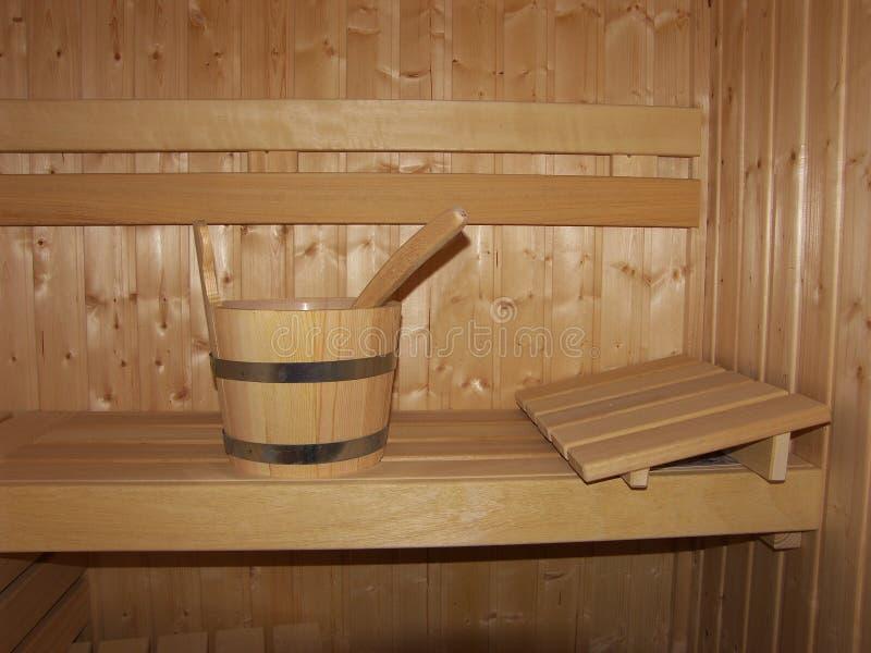 Hölzerne Sauna lizenzfreie stockbilder
