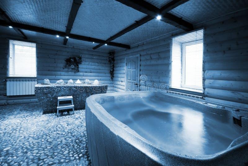 Hölzerne Sauna lizenzfreies stockfoto
