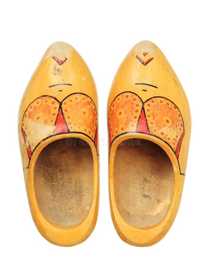 Hölzerne Schuhe stockfotos
