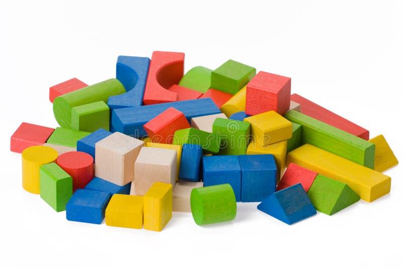 Hölzerne Spielzeugblöcke lizenzfreies stockfoto