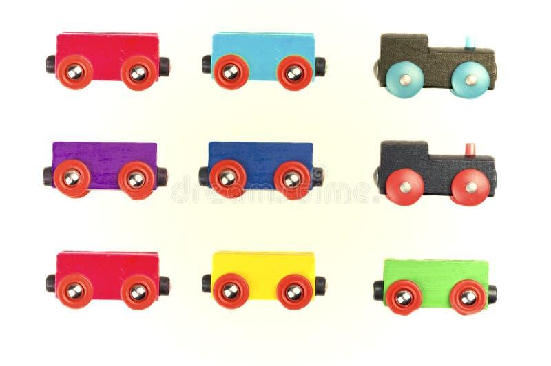 Hölzerne Spielzeugserie stockfotografie