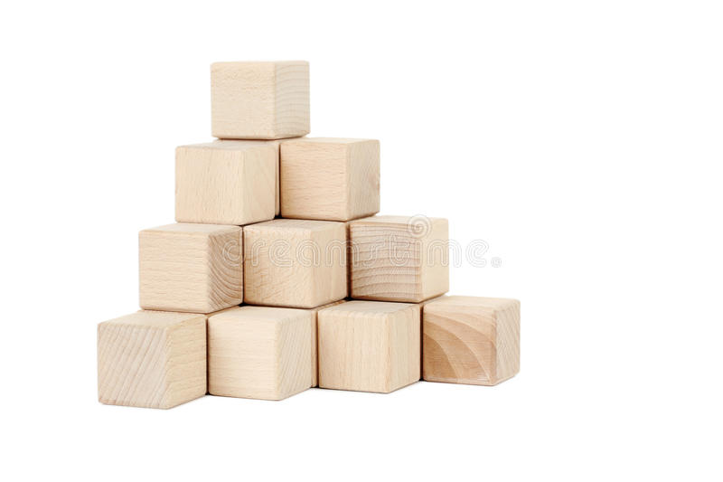 Hölzerne Spielzeugwürfel stockfoto