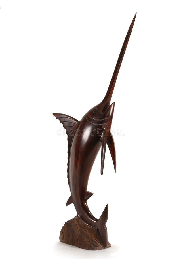 Hölzerne Statuette der Schwertfische lizenzfreies stockbild