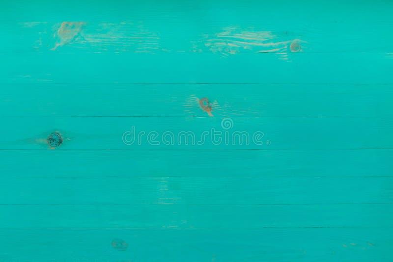 Hölzerne Strandplanken des Türkises, leerer Hintergrund für Kopienraum, Draufsicht stockbild