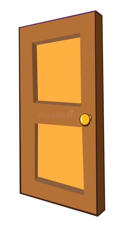 Hölzerne Tür vektor abbildung