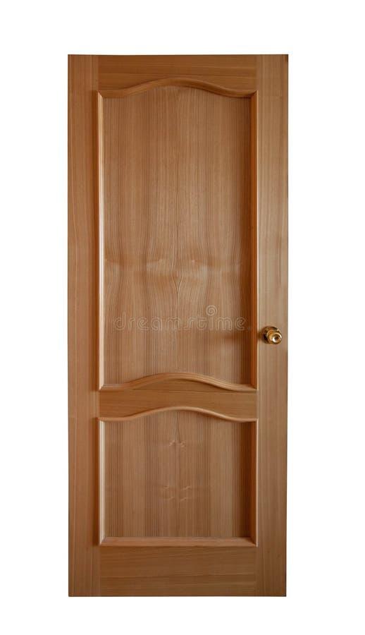 Hölzerne Tür. Getrennt über Weiß stockbilder
