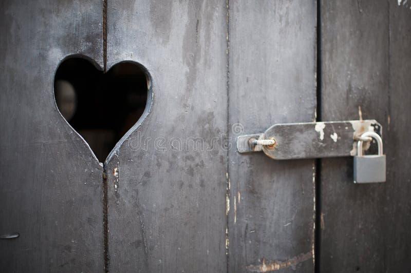 Hölzerne Tür mit Innerem stockfoto