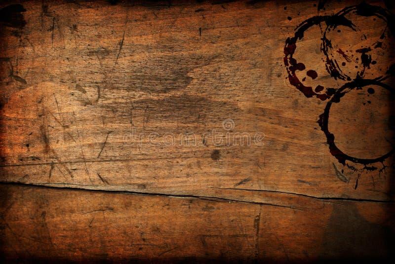 Hölzerne Tabellenbeschaffenheit der dunklen Weinlese lizenzfreies stockfoto