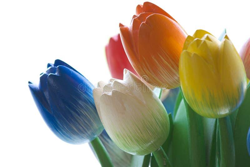Hölzerne Tulpen lizenzfreies stockfoto