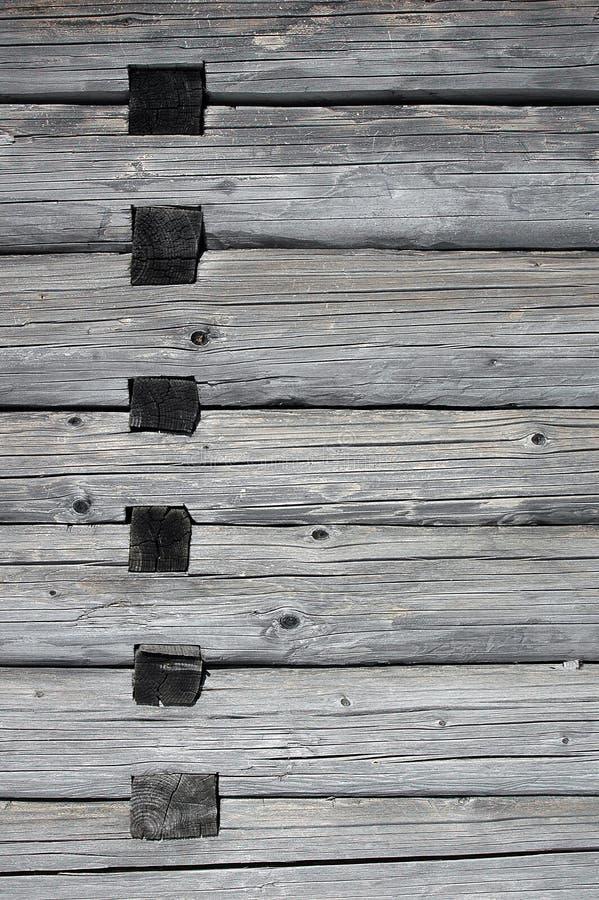 Hölzerne Verbindungen in einem Haus lizenzfreie stockfotografie