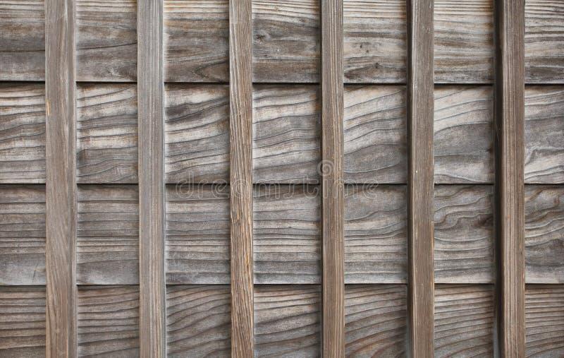 Hölzerne Wand des traditionellen japanischen Hauses lizenzfreies stockfoto