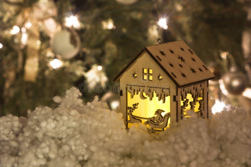 Hölzerne Weihnachtsdekoration stockfoto