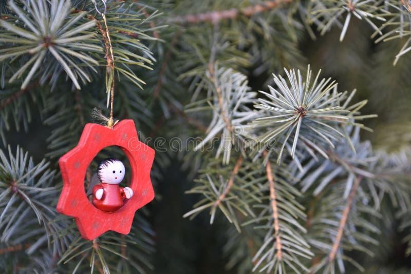 Hölzerne Weihnachtsdekoration stockfotografie