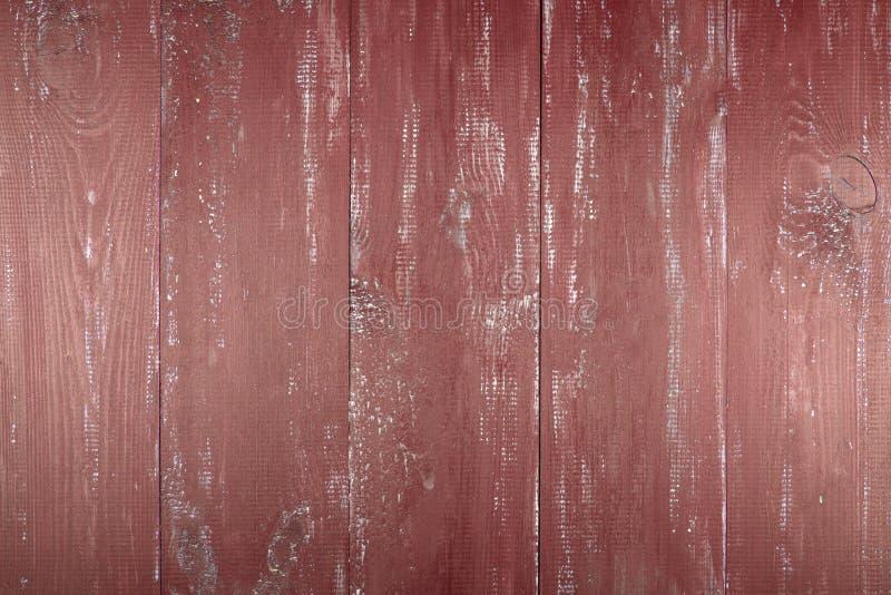 Hölzerner Beschaffenheitshintergrund Die Oberfläche der alten hölzernen Beschaffenheit Die Bretter werden im Rot gemalt lizenzfreie stockfotos