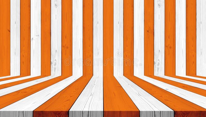 Hölzerner Beschaffenheitshintergrund, streifen Orange und Weiß für Halloween-Hintergrund lizenzfreie stockfotos