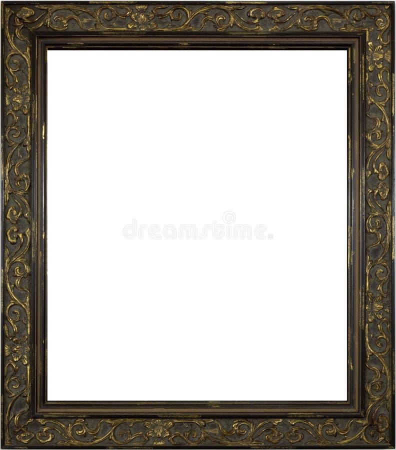 Hölzerner Bilderrahmen auf Weiß lizenzfreies stockfoto