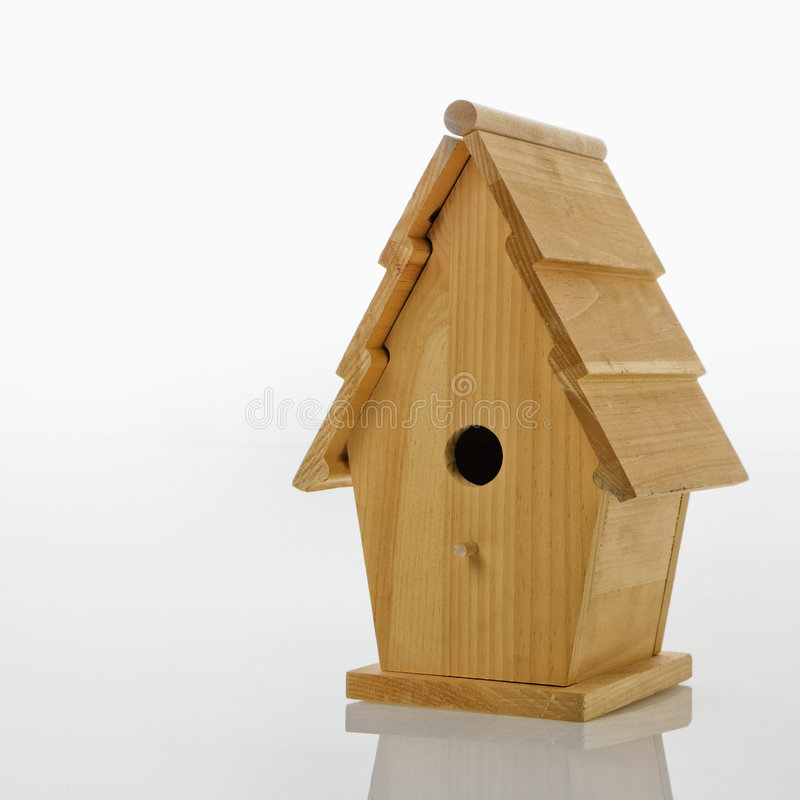Hölzerner Birdhouse. lizenzfreie stockfotografie