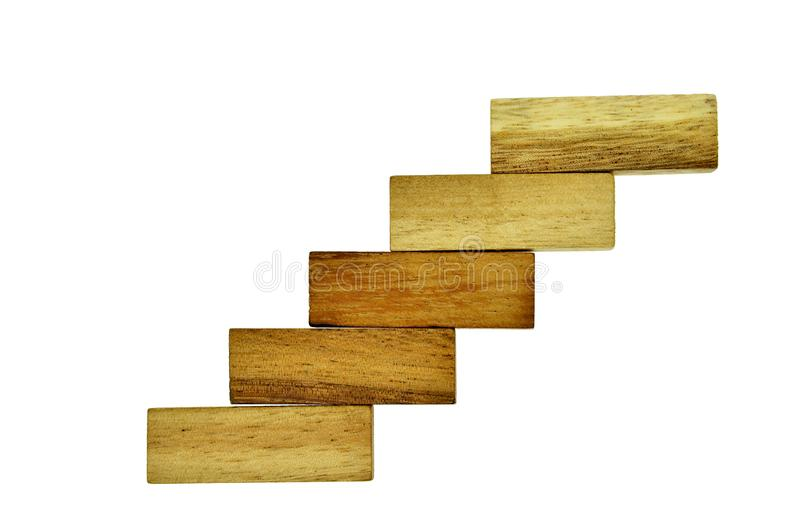 Hölzerner Block, der als Schritttreppe stapelt lizenzfreies stockbild
