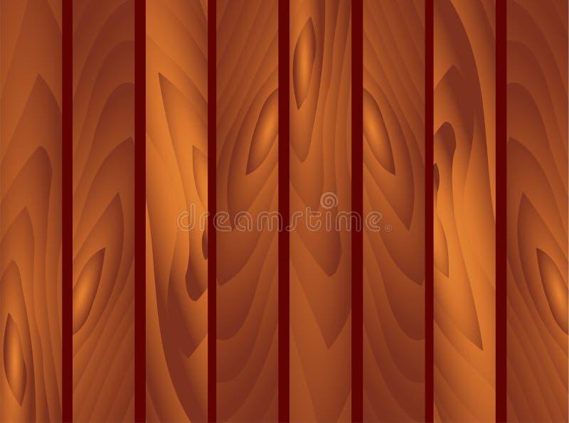 Hölzerner brauner Planken-Hintergrund Gartenzaun, fechtend, Leitschiene St. Patrick Day, Marsch, Frühling, Wand, Holz, Boden, Bes vektor abbildung