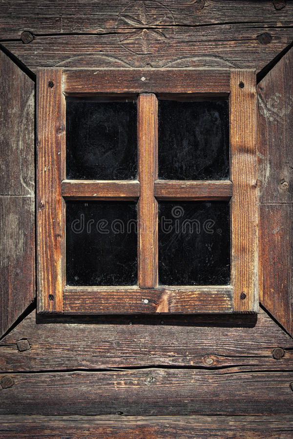 Hölzerner Fenster-Rahmen stockfotografie