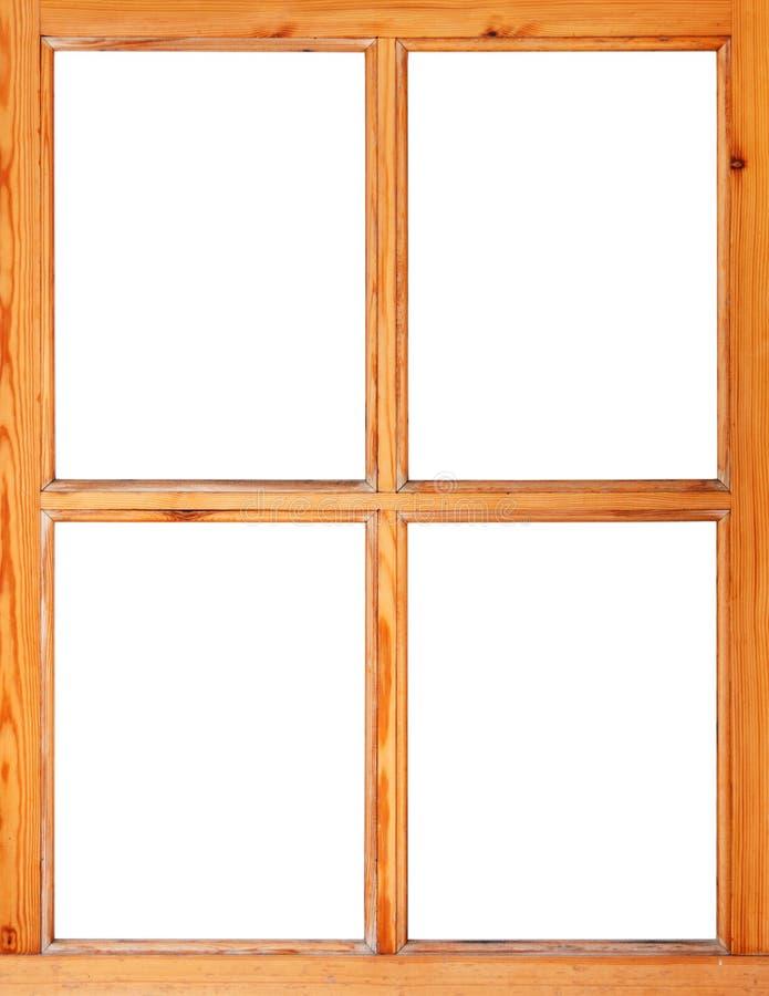 Hölzerner Fensterrahmen lokalisiert lizenzfreie stockfotos
