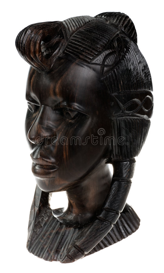 Dunkle Schokolade Ebenholz Kopf