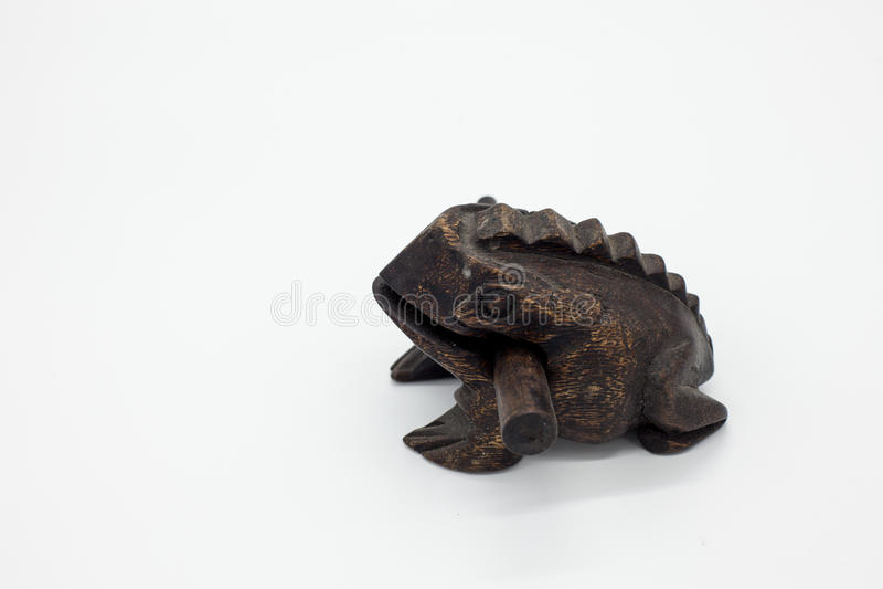 Hölzerner Frosch lizenzfreie stockfotos