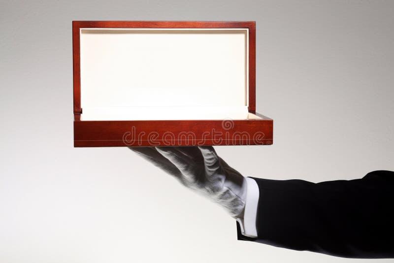 Hölzerner Geschenk-Luxuxkasten lizenzfreies stockbild