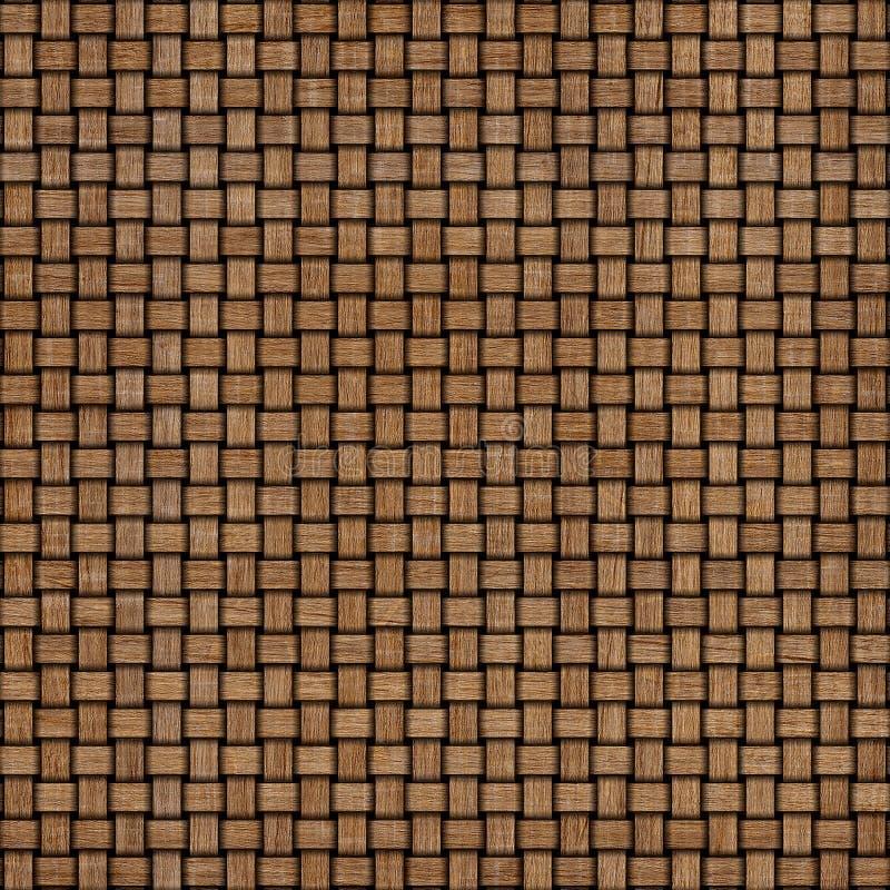 Hölzerner Gewebebeschaffenheitshintergrund Abstrakter dekorativer hölzerner strukturierter Korbflechtenhintergrund Nahtloses Must lizenzfreie stockbilder