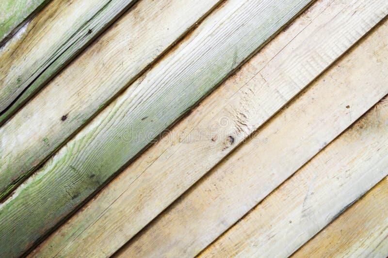 Hölzerner Hintergrund der alten Weinlese mit diagonalen Brettern Schäbige schicke Franzose-Provence-Art lizenzfreies stockbild