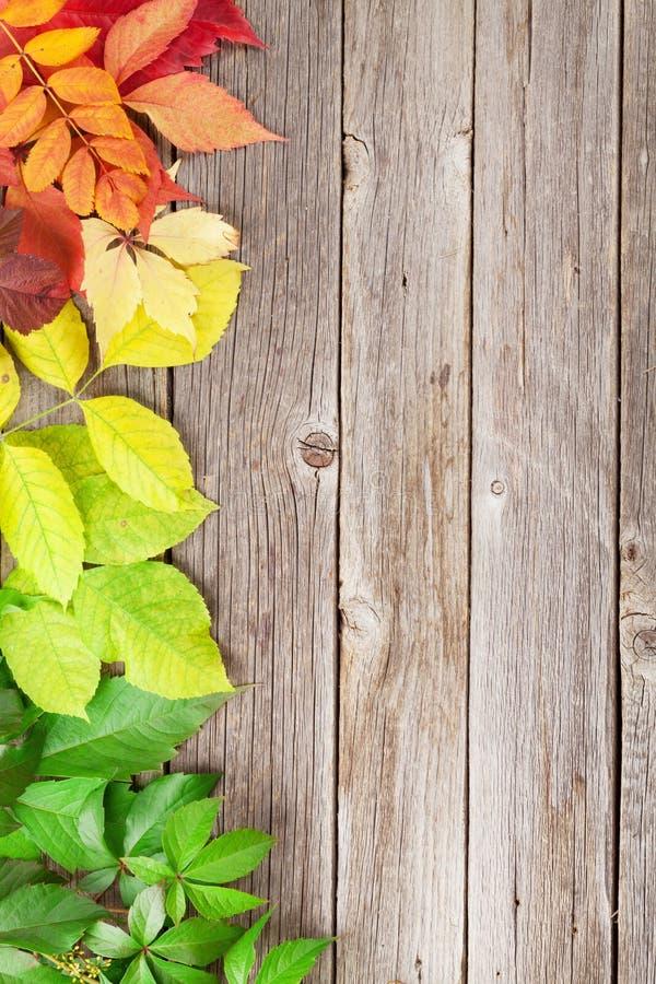 Hölzerner Hintergrund des Herbstes stockbild